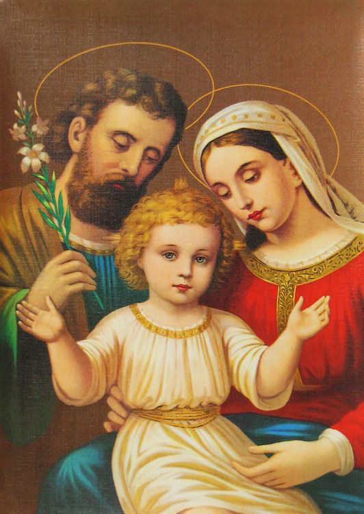 Mary, Joseph, and Jesus as a child | Religion | Pinterest