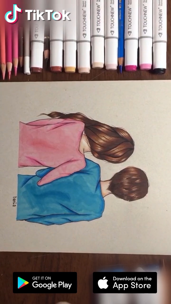 Lovely Painting For Valentine Download Tiktok To Find More Funny Ideas Life S Moving Fast So Make Every Second Coun Video Colorful Drawings Painting Creative Art