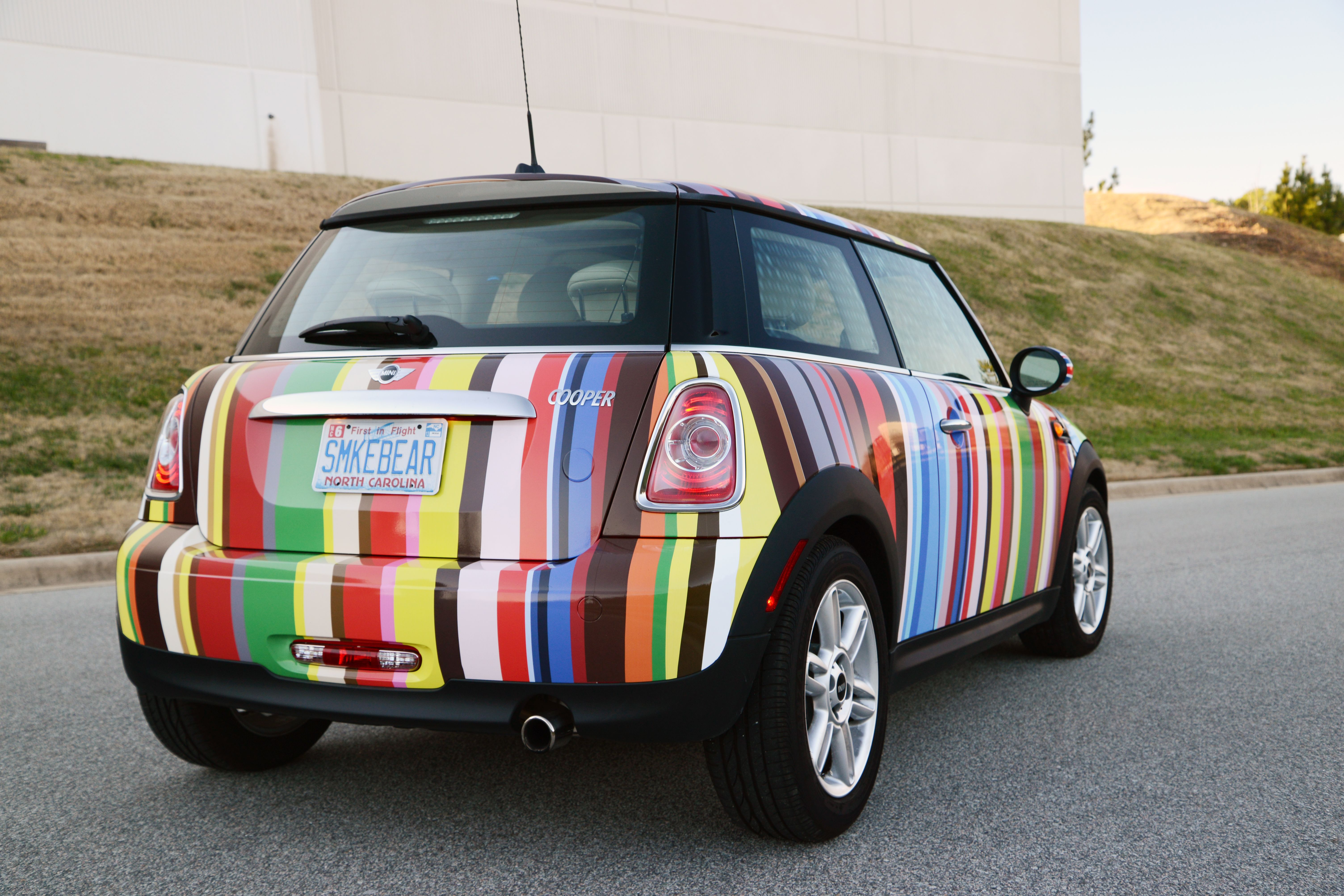 Little Car With A Big Bold Vehicle Wrap Car Wrap Mini Driver