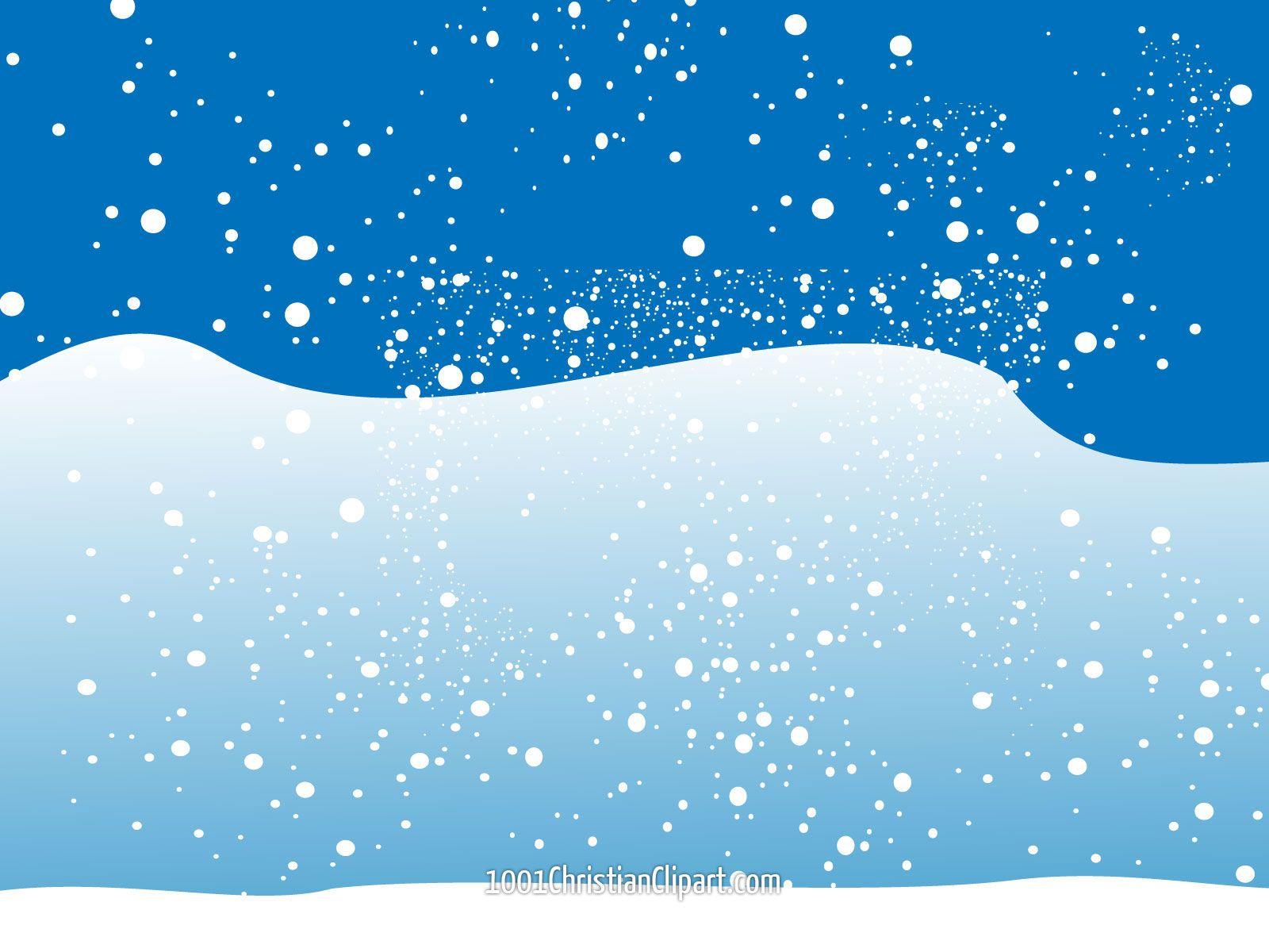 Christmas Winter Snow Scene Clip Art | Christmas Snow Free ...