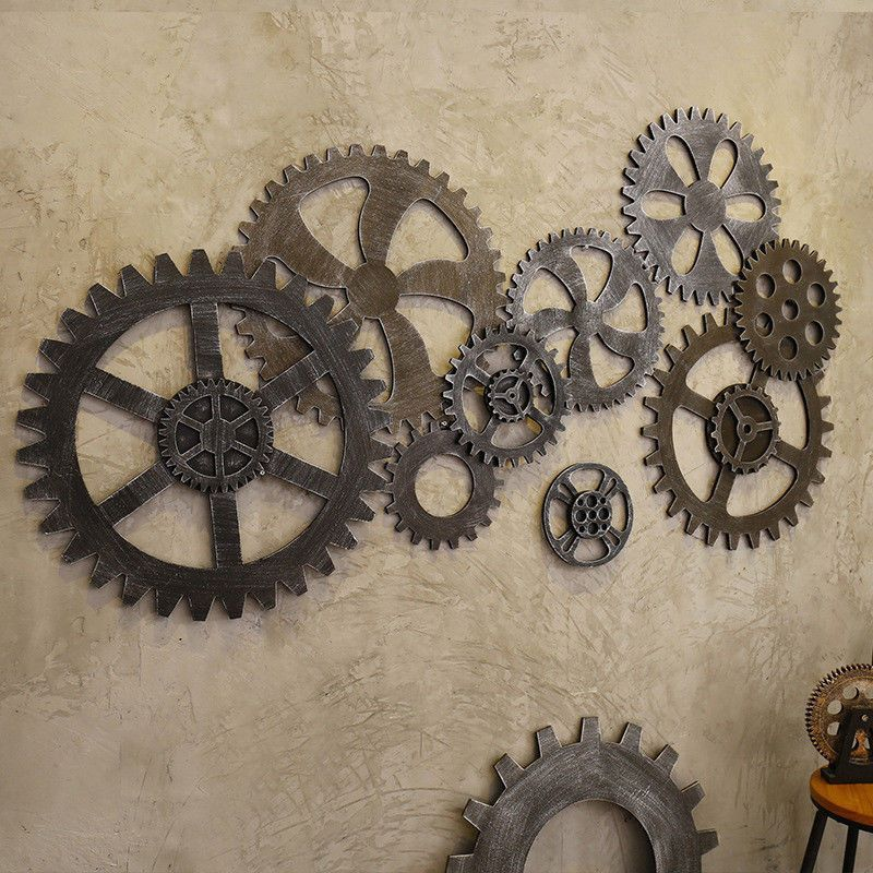 Industrial Gear Wall Vintage Retro Antique Art Bar Cafe Steampunk Hanging  New