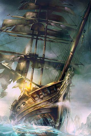Pirate ship iphone wallpaper - photo#29