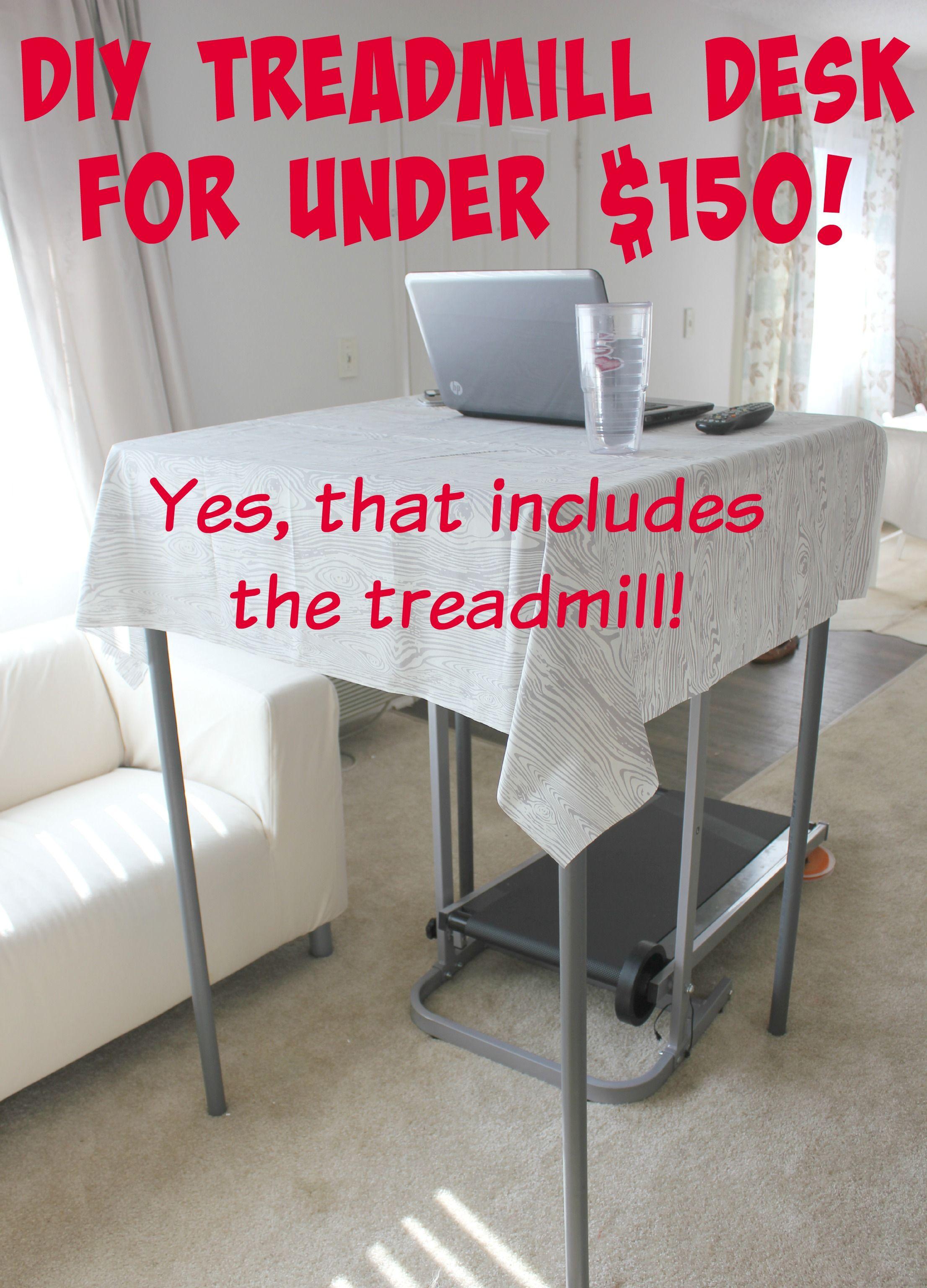 Diy treadmill desk treadmill desk diy home decor hacks