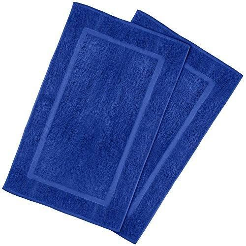 Superior Luxury Cotton Hotel Spa Tub Shower Bath Mat Floor Mat   Pack Royal Blue 21  Inch By 34 Inch)   Washable Bath Rug Set Luxury Size Maximum Absorbency  Machine ...