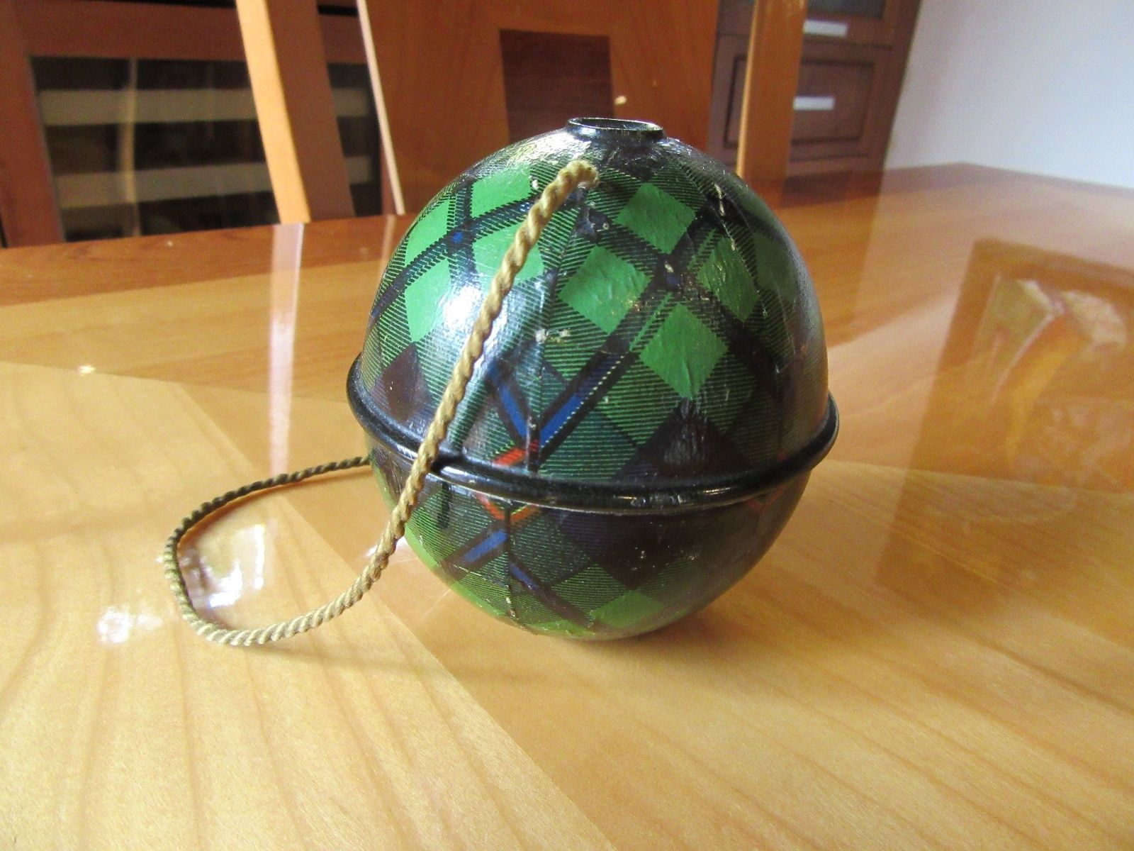 antique RARE Antique CAMPBELL Mauchline TartanWare String Ball ...
