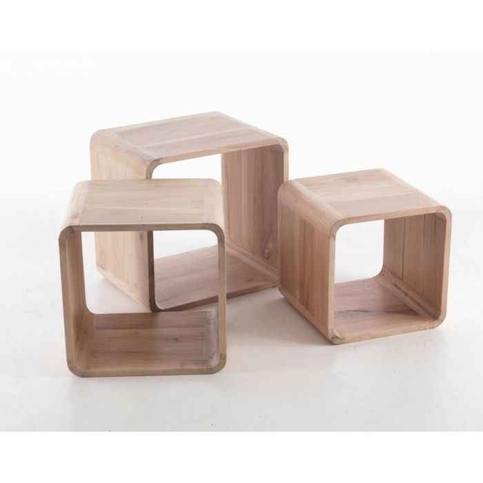 Hazelwood Home Avon 3 Piece Cube Nesting Table Set   Reviews   Wayfair UK. Hazelwood Home Avon 3 Piece Cube Nesting Table Set   Reviews