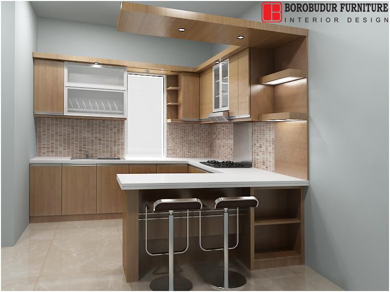 14 pascher gambar kitchen set mini bar minimalis pics di