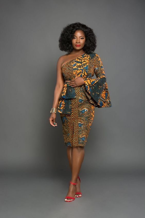 the most attractive and popular african print dresses 2018