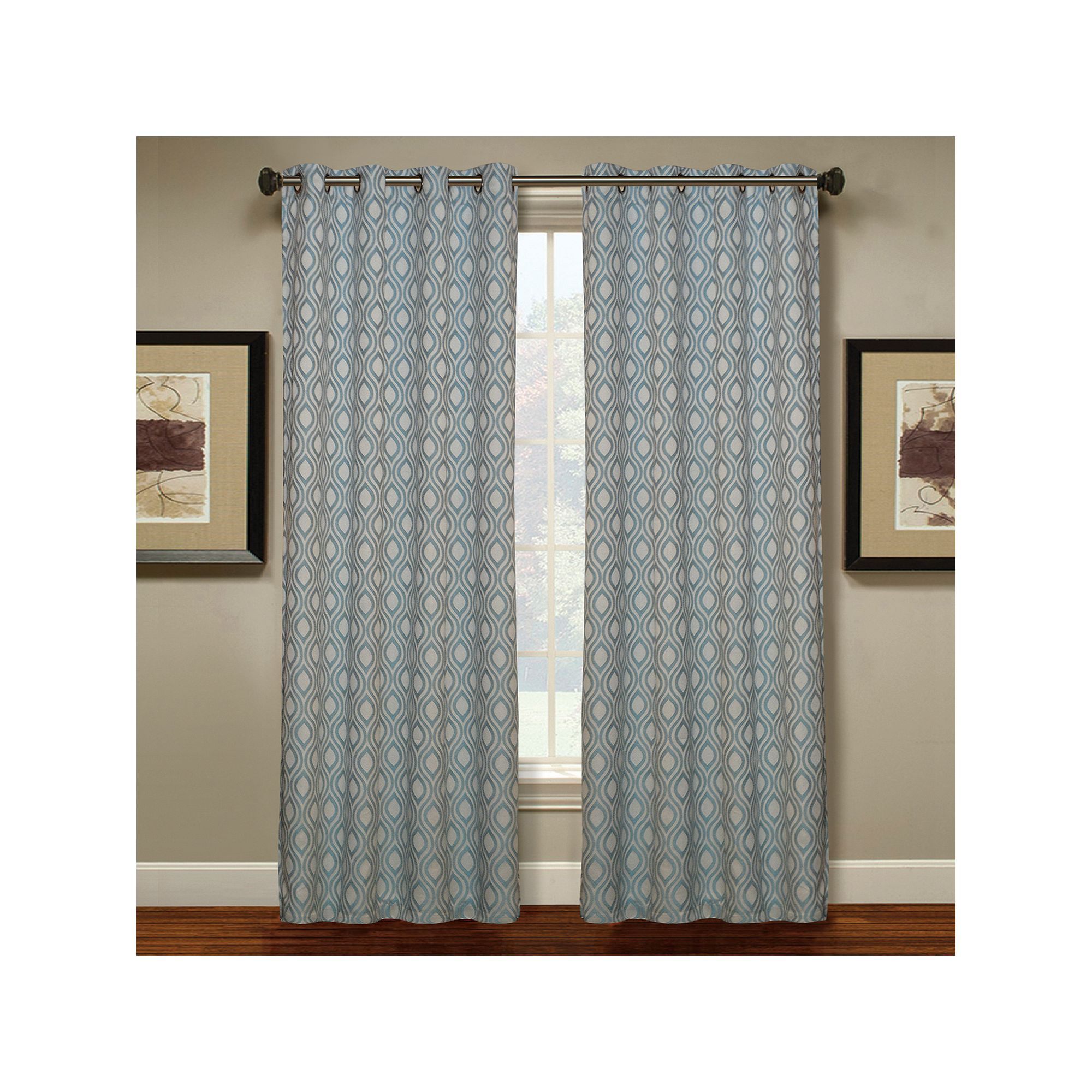 Spencer Home Decor 1 Panel Teardrop Window Curtain Blue