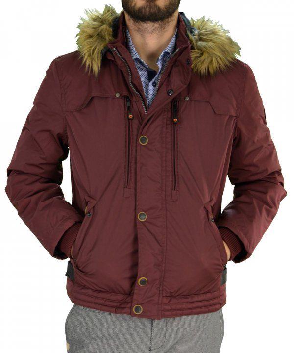 966a3f6190 Ανδρικό μπουφάν Jacket Inox μπορντό κοντό 16535Q   χειμωνιατικαμπουφαναντρικα  εκπτωσεις  προσφορες  menjacket
