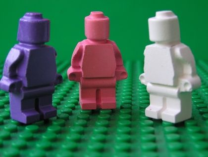 Pretty in Pink Minifigure Crayons (6 per packet)   Felt
