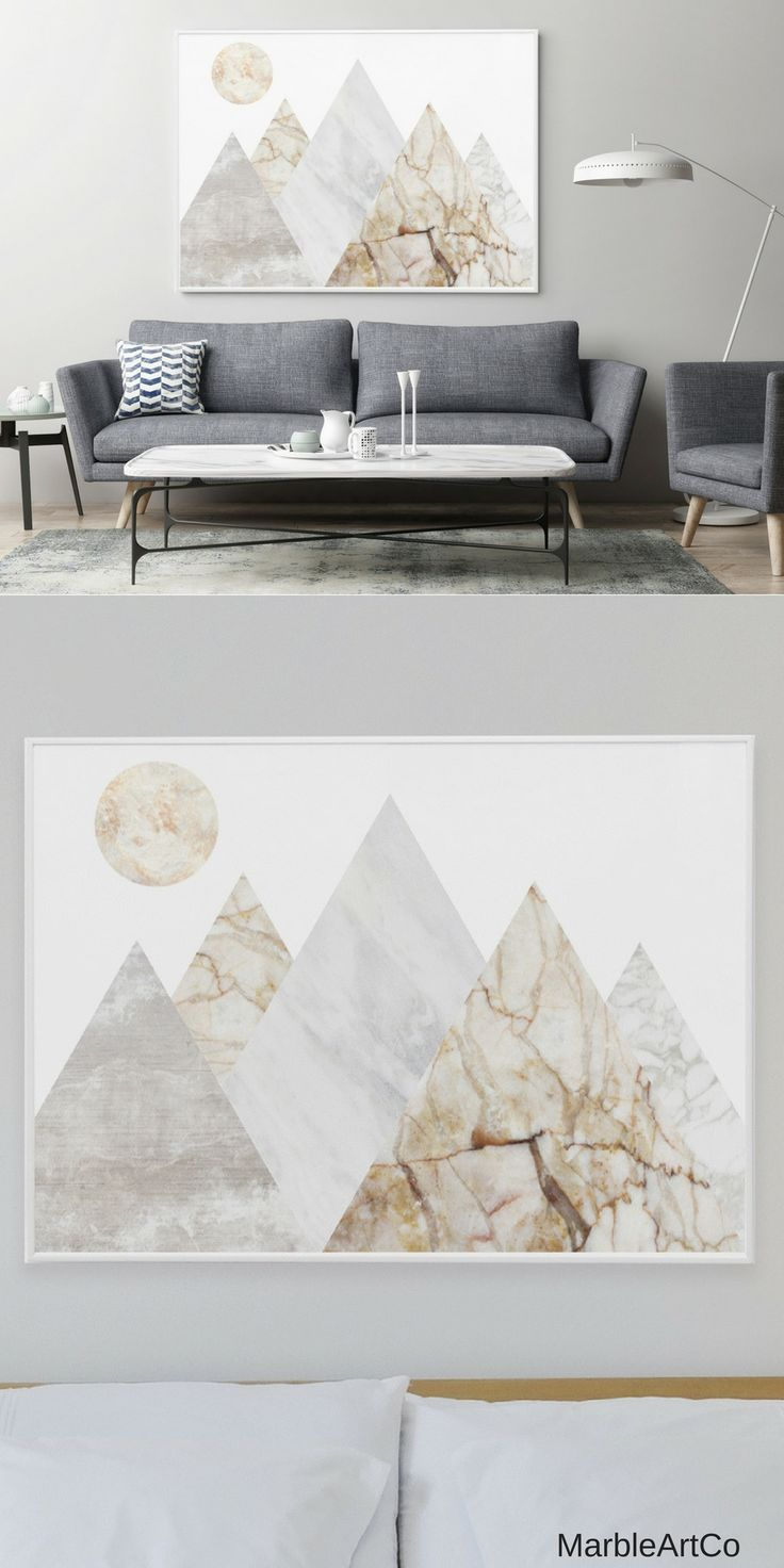 Mountains extra large wall art bedroom decor nature framed art
