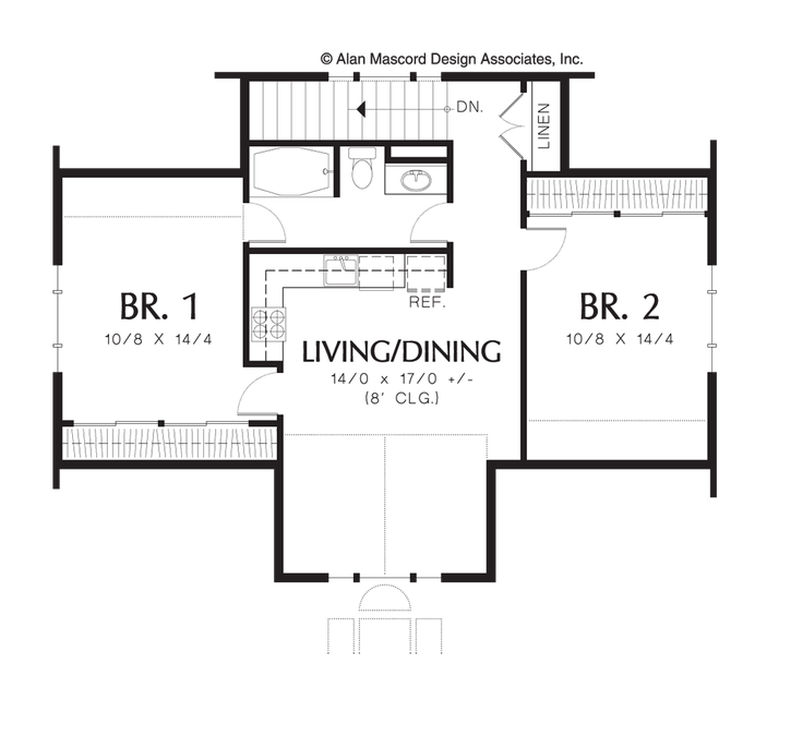 Image For Eastman Two Bedroom Guest Suite Over 3 Car Plan Upper Floor Plan Carriage House Plans Pool House Plans Cottage Floor Plans