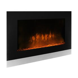 Sonax 31 In W 5000 Btu Black Metal Wall Mount Electric Fireplace With Thermo Finishing Basement Lowes Home Improvements