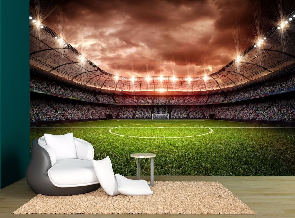 Soccer Football Stadium Night Lights Wall Mural Photo Wallpaper GIANT WALL  DECOR Part 60