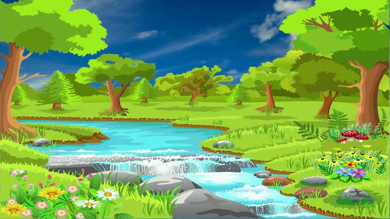 Beautiful 3d Animation With Green Nature Scenery 3d Background Video Ef Nature Wallpaper Green Nature Wallpaper Nature Backgrounds