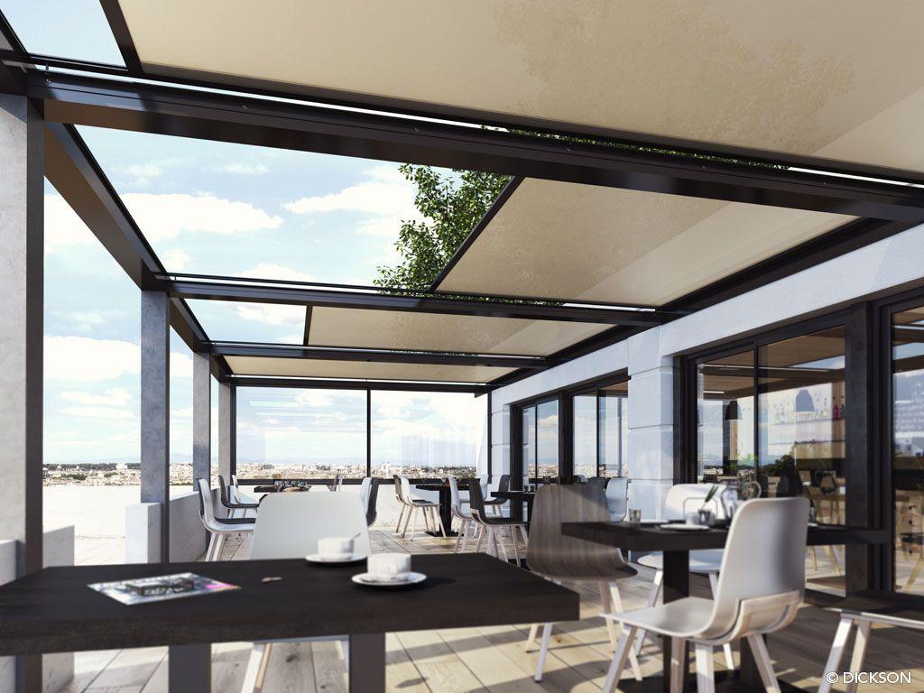 Sunworker open p rgola sombra retractil pinterest - Proteccion para terrazas ...