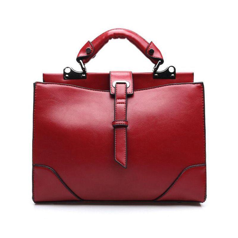 Casual Women's Handbag Brown Leather Shoulder Bag 2016 Business Ladies Tote Bag Hot Sale