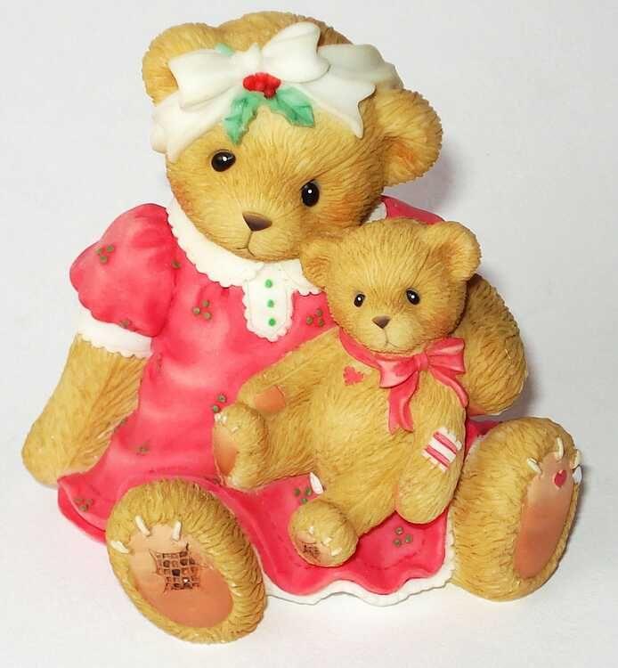 Heidi's Cherished Teddies Gallery: MARJEAN - Abbey Press - Christmas Cuddles, Holiday Hugs (119430)