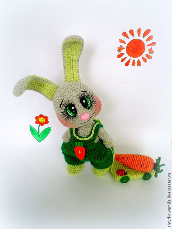 Berry Patch Bunny Girl Version - A Free Amigurumi Pattern (With images) |  Crochet bunny, Crochet amigurumi free | 768x576