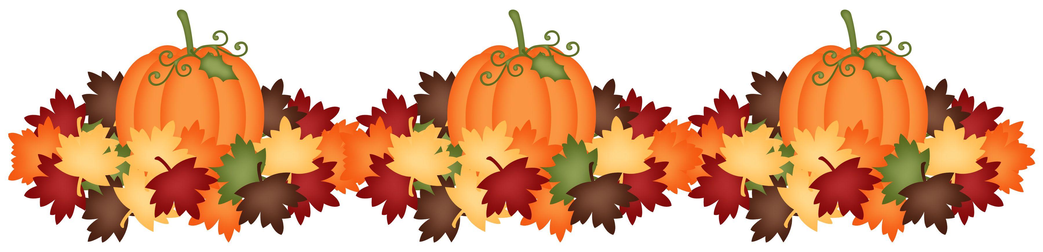 PUMPKINS AND LEAVES | Fall clip art, Clip art borders ...