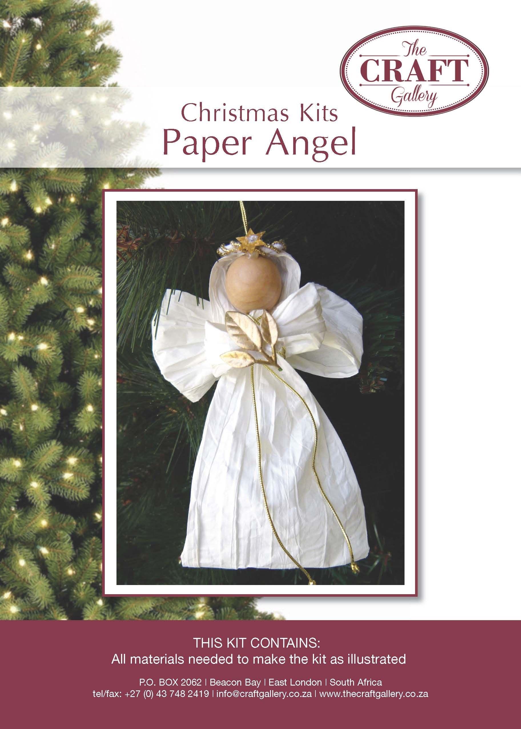 Paper Angel Christmas Kits Handwork Kits Paper Angel Christmas Angels Christmas Crafts