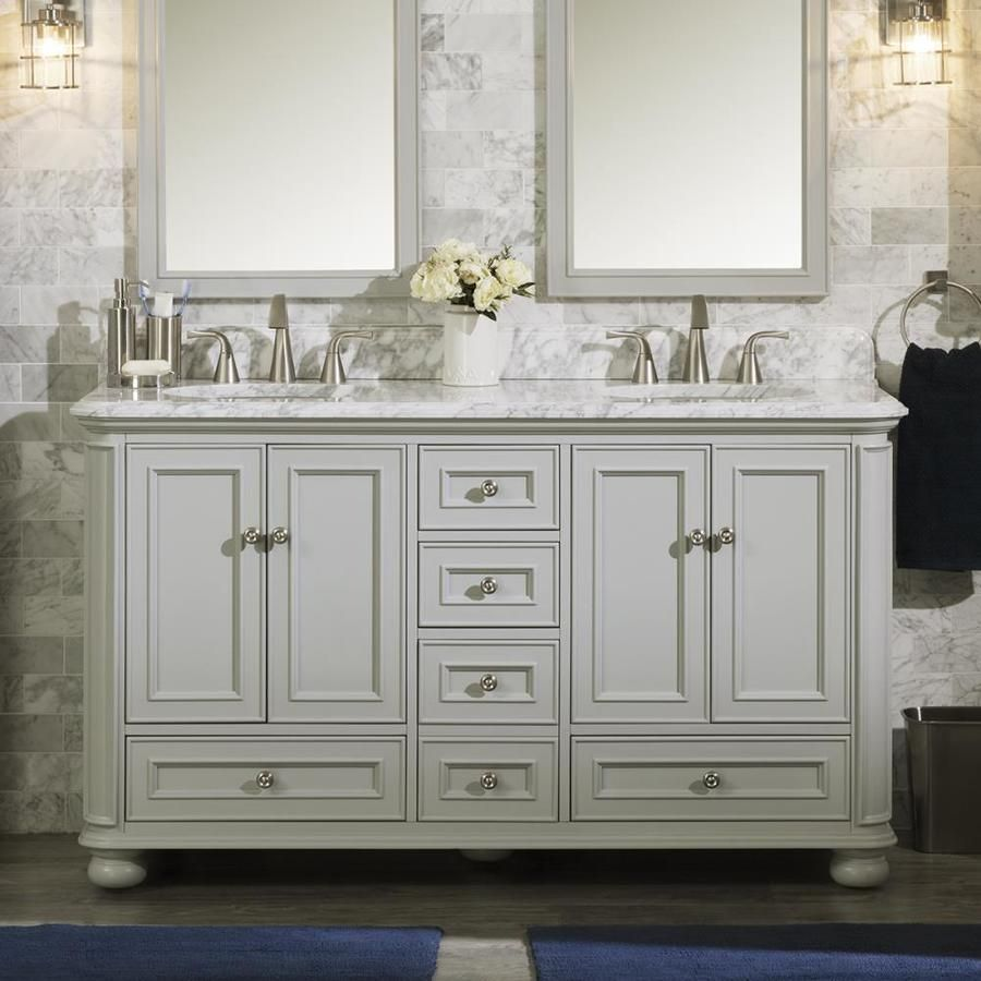Scott Living Wrightsville 60 In Light Gray Double Sink Bathroom