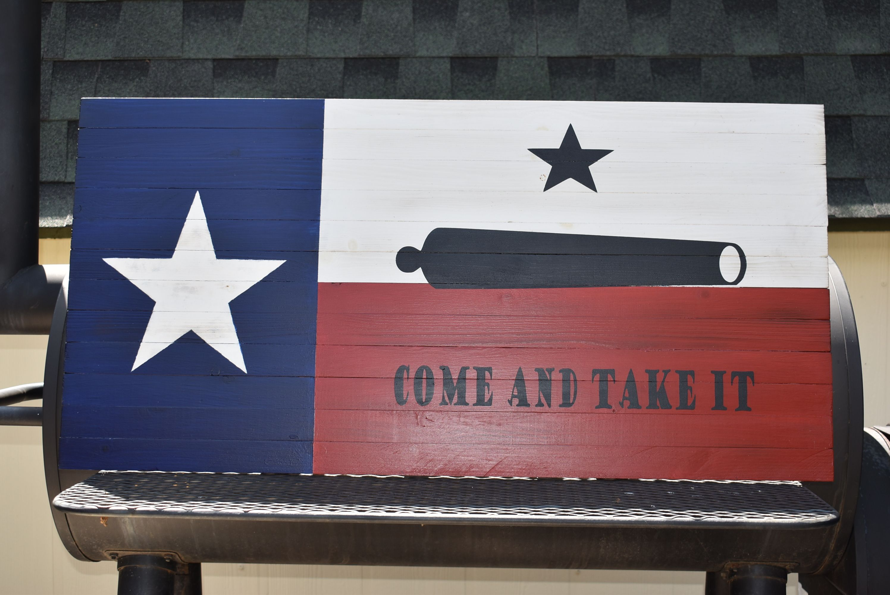 State Of Texas Flag With Come And Take It Come And Take It Wood Flag Military Flag