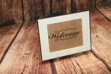 """Burlap Sign 8 x 14 Inch Frame Wall Décor """"WELCOME"""" Welcome sign 8"""" x10"""""""