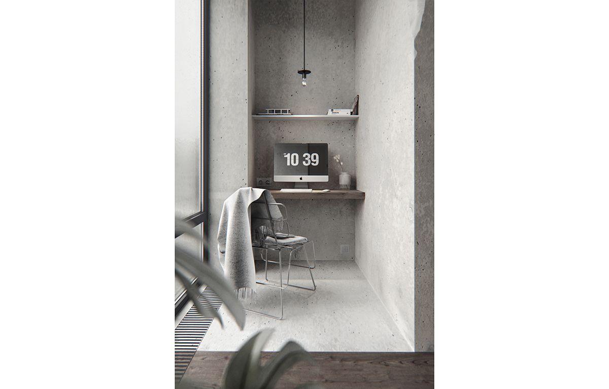Bw Interior In Pechersky On Behance Interior Interior