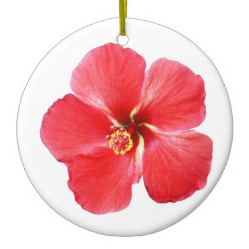 Hawaii ornament tropical hibiscus ornament beach