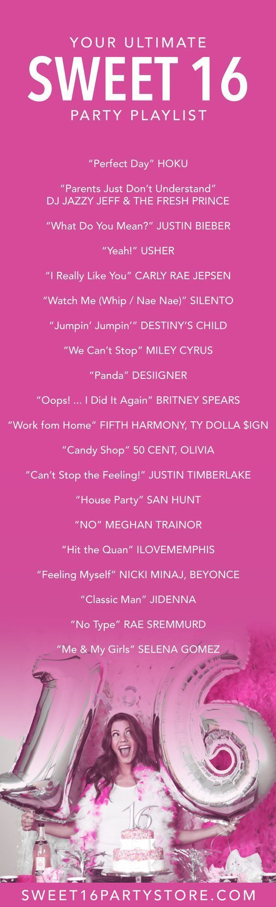 The ULTIMATE Sweet 16 Party Playlist from Sweet 16 Party Store!   - SWEET 16 PARTY IDEAS -