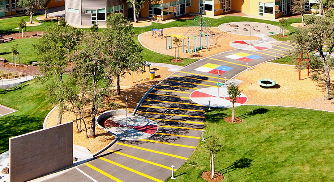 Redding school for the arts playground design for School garden designs