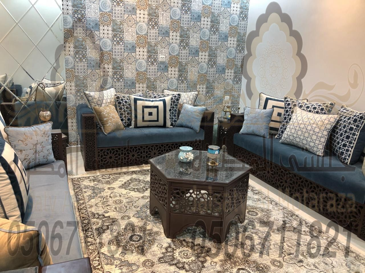 كنب مغربي روعة من تصميم وتنفيذ جلستي المطرزة جوال 0506711821 Decor Home Decor Furniture