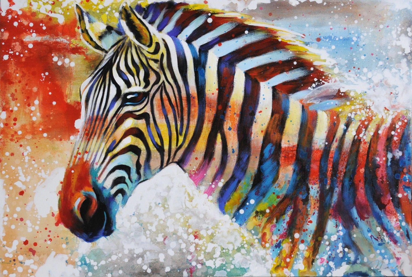 Zebra dieren schilderij | wildlife | Pinterest | Gifs, Pinturas y Arte