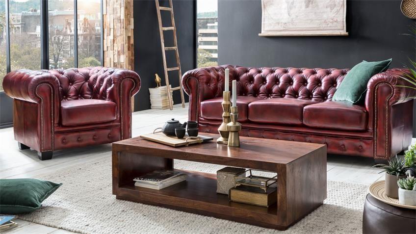 Chesterfield Garnitur 3 2 1 Leder Antik Rot Luxus Hochwertig Chesterfield Sofa Sofa Sessel Chesterfield Wohnzimmer