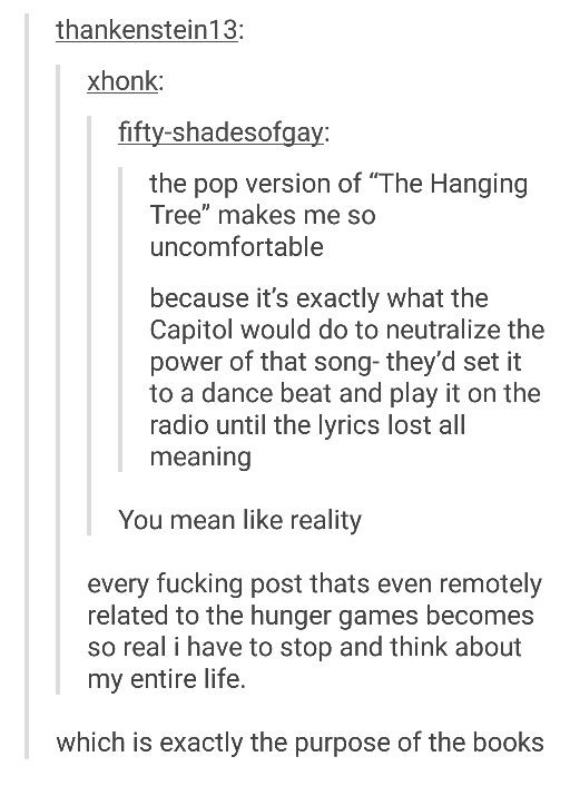 Exactly Its Not Just About The Fucking Love Triangle Hunger Games