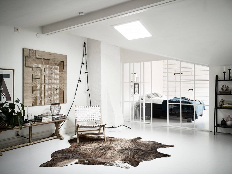 Glazen Wand Slaapkamer : Goals deze industriële glazen wand tussen de woon en slaapkamer