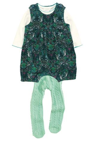 4a39a9b57 Buy Teal Print Cord Dungarees