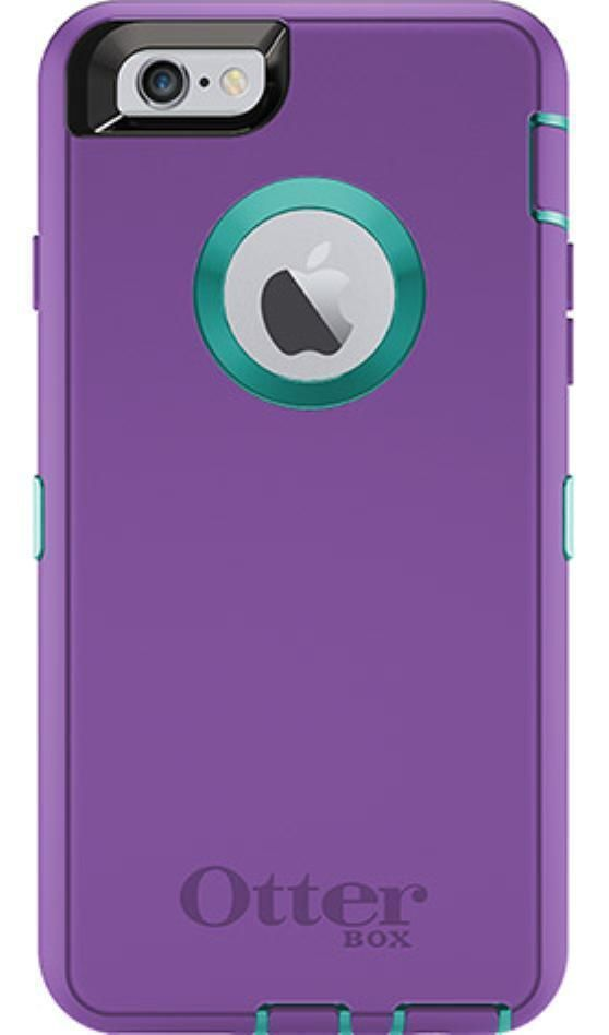 on sale 31a75 5f6ec Purple/Light Teal Otterbox Defender Case For iPhone 6 Plus ORIGINAL ...