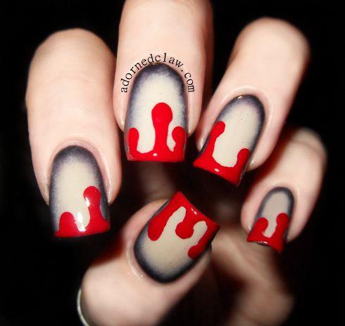 Dripping blood nail art seasonally applicable mini canvases dripping blood nail art prinsesfo Gallery