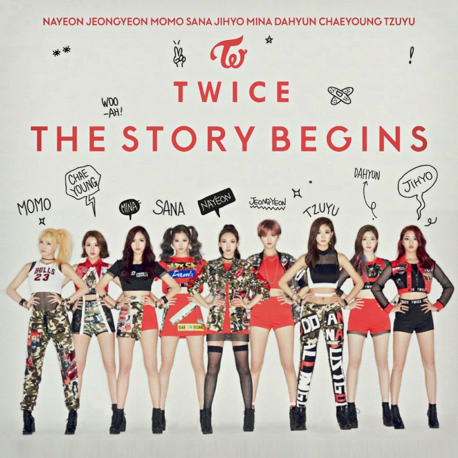 Twice Like Ooh Ahh The Story Begins Album Cover By Lealbum