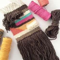 Learn the basics of making one-of-a-kind woven tapestries with Annabel Wrigley. This course goes beyond simple warp-and-weft weaving, teaching you how to add long, dramatic fringe, color-blocked shapes, fluffy clouds of wool roving, and loads of texture and color. Best of all, Annabel teaches you...