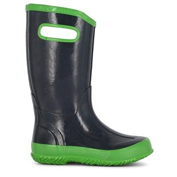 2ad17005ec2a Bogs Kids  Solid Waterproof Rain Boot Toddler Pre Grade School Boots (Navy