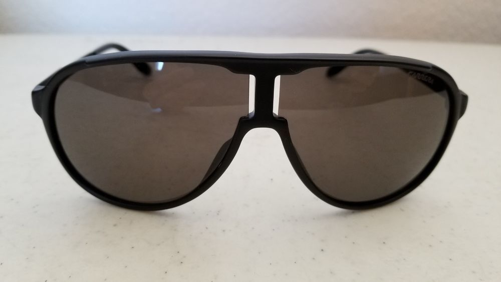 209114c47bf1d  44.95 Used Carrera New Champion Guyner Sunglasses Matte Black Frame and  Black Lenses  Carrera  Pilot