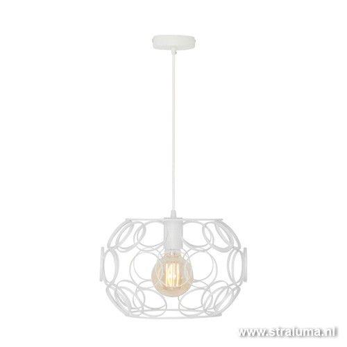 Scandinavische hanglamp klein wit ringen - www.straluma.nl