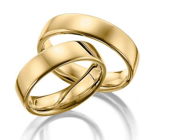 Par de Alianças Ferrara ♥ Casamento e Noivado em Ouro 18K - Reisman -  Reisman… 499b68fb03