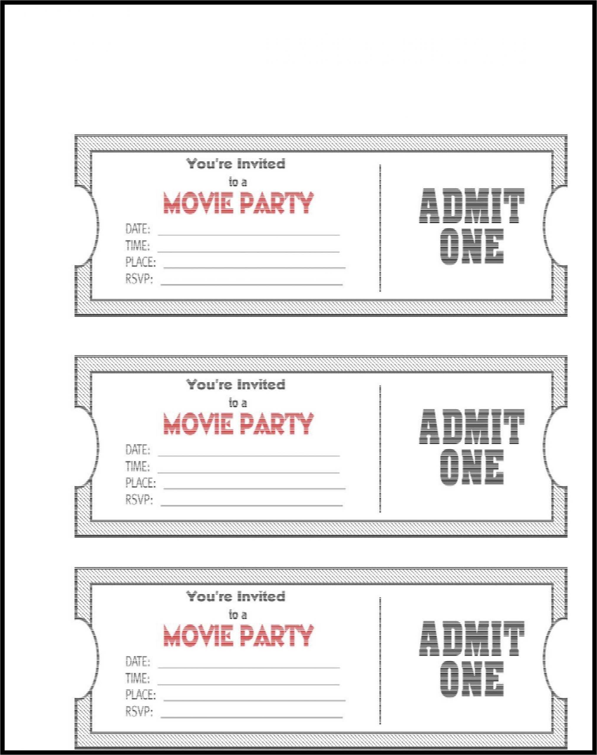 24 Editable Ticket Template Free Ticket Template Free Movie Ticket Template Ticket Template Printable Free printable movie tickets template