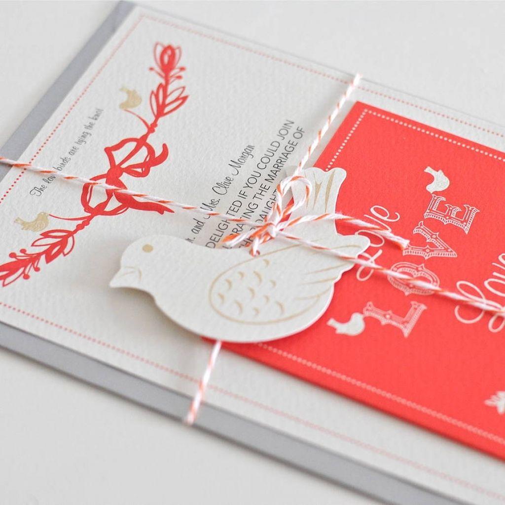 Old Fashioned Love Birds Wedding Invitation Vignette - Resume Ideas ...