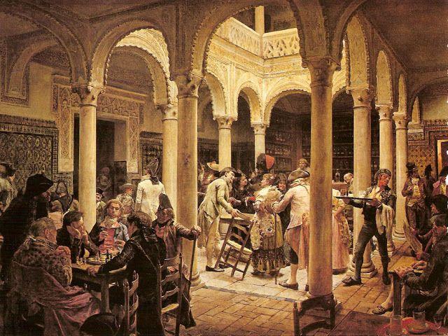 El Café, 1889. JOSÉ JIMÉNEZ De ARANDA   Dibujante Y Pintor Español   1837